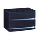 Global Furniture Aurora 2 Drawer Nightstand in Wenge