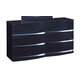 Global Furniture Aurora 6 Drawer Dresser in Wenge