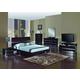 Global Furniture Aurora 4-Piece Platform Bedroom Set in Wenge
