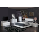 Global Furniture Aurora/8103 4-Piece Platform Bedroom Set in White