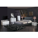 Global Furniture Aurora/8284 4-Piece Bedroom Set in White/Black