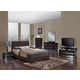 Global Furniture Aurora/8103 4-Piece Platform Bedroom Set in Brown/Wenge