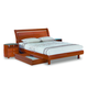 Global Furniture Emily King Platform Bed in Cherry