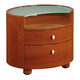 Global Furniture Emily 2 Drawer Nightstand in Cherry