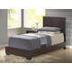 Global Furniture 8103 Twin PU Bed in Brown