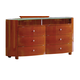 Global Furniture Emily 6 Drawer Dresser in Cherry