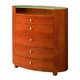 Global Furniture Emily 5 Drawer Chest in Cherry