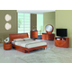Global Furniture Emily 4-Piece Platform Bedroom Set in Cherry