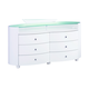 Global Furniture Emily 6 Drawer Dresser in White