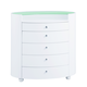 Global Furniture Emily 5 Drawer Chest in White