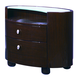 Global Furniture Emily 2 Drawer Nightstand in Wenge