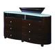 Global Furniture Emily 6 Drawer Dresser in Wenge