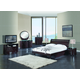 Global Furniture Emily 4-Piece Platform Bedroom Set in Wenge