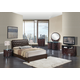 Global Furniture Emily/8119 4-Piece Bedroom Set in Brown/Wenge