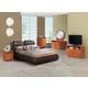 Global Furniture Emily/8269 4-Piece Bedroom Set in Brown/Cherry