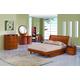 Global Furniture Emily Kids 4-Piece Platform Bedroom Set in Cherry