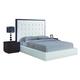 Global Furniture Metro King Platform Bed in Wenge/White