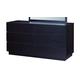 Global Furniture Metro 6 Drawer Dresser in Wenge/White