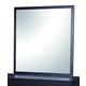 Global Furniture Metro Mirror in Wenge/White