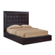 Global Furniture Metro Queen Platform Bed in Wenge/Chocolate