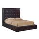 Global Furniture Metro King Platform Bed in Wenge/Chocolate