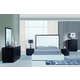 Global Furniture Metro 4-Piece Platform Bedroom Set in Wenge/White