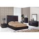 Global Furniture Metro 4-Piece Platform Bedroom Set in Wenge/Chocolate