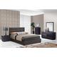 Global Furniture Metro/8101 4-Piece Platform Bedroom Set in Wenge/Brown