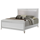 Global Furniture Catalina Queen Panel Bed in Metallic White