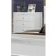 Global Furniture Catalina 5 Drawer Chest in Metallic White