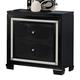 Global Furniture Galaxy 2 Drawer Nightstand in Metallic Black