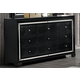 Global Furniture Galaxy 9 Drawer Dresser in Metallic Black