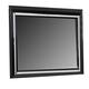 Global Furniture Galaxy Mirror in Metallic Black