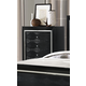 Global Furniture Galaxy 5 Drawer Chest in Metallic Black