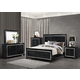 Global Furniture Galaxy 4-Piece Panel Bedroom Set in Metallic Black