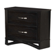 Global Furniture Fairmont 2 Drawer Nightstand in Dark Cappuccino