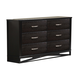 Global Furniture Fairmont 6 Drawer Dresser in Dark Cappuccino