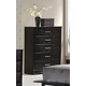 Global Furniture Fairmont 5 Drawer Chest in Dark Cappuccino
