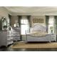 Magnussen Furniture Windsor Lane 4-Piece Poster Bedroom Set in Weathered White