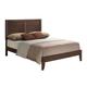 Global Furniture Corra Queen Panel Bed in Dark Merlot