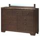Global Furniture Corra 9 Drawer Dresser in Dark Merlot