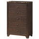 Global Furniture Corra 5 Drawer Chest in Dark Merlot
