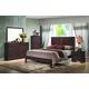 Global Furniture Corra 5-Piece Panel Bedroom Set in Dark Merlot