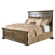 Kincaid Portolone Monteri Queen Panel Bed in Rich Truffle