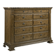Kincaid Portolone Bureau with Marble Top in Rich Truffle 95-161M