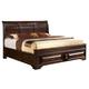 Global Furniture Sarina King Platform Bed in Varnish Oak