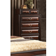 Global Furniture Sarina 7 Drawer Chest in Varnish Oak