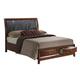 Global Furniture Oasis Queen Platform Bed in Oak