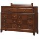 Global Furniture Oasis 8 Drawer Dresser in Oak