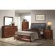 Global Furniture Oasis 4-Piece Platform Bedroom Set in Oak
